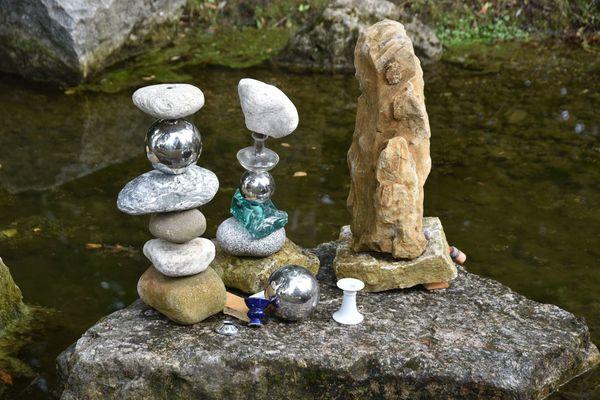 Steinskulpturen im Kurpark Bad Abbach