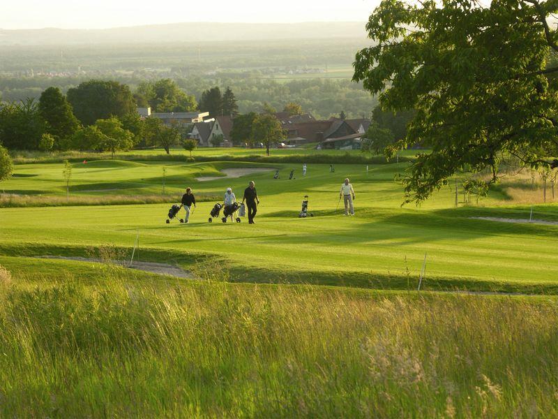 Golfer auf Greenfee