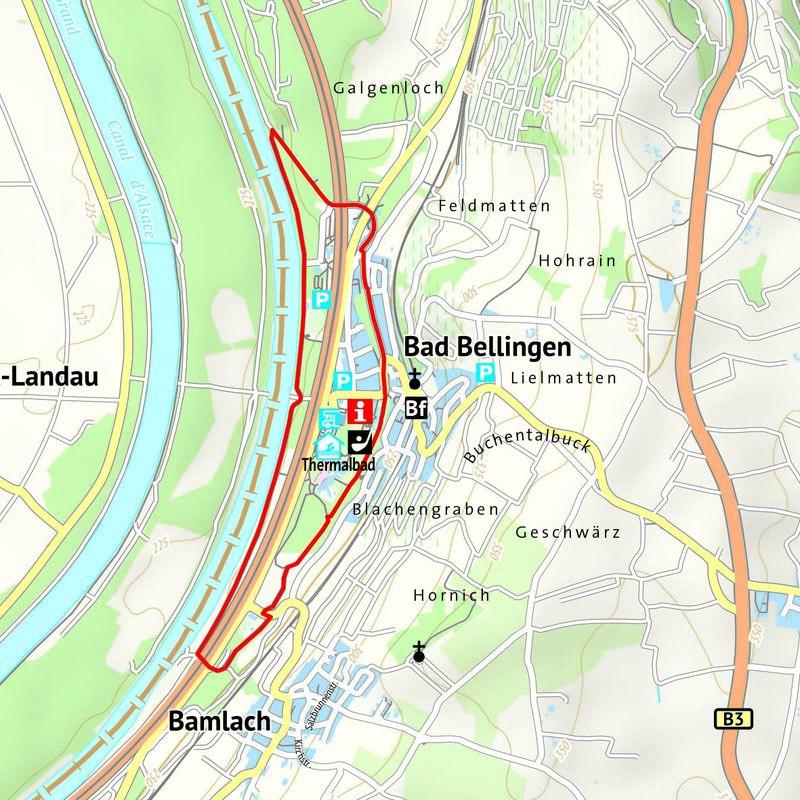 Großer Rundweg im Rheinvorland