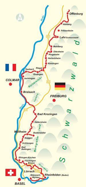 Oberrhein Römer-Radweg Bad Bellingen - Müllheim