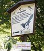 Schild Vogelpfad