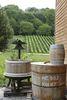 Weinfass und Weinpresse