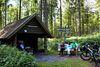 Auszeit und Rastplatz im Wald - die Millionenbank