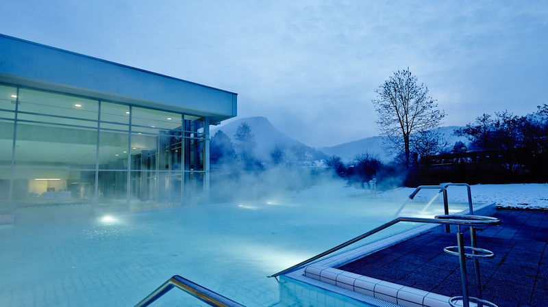Vinzenz Therme in Bad Ditzenbach, Winterstimmung