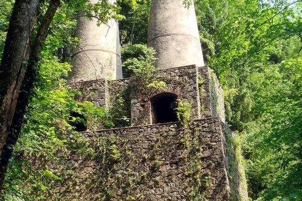 Oberer Teil des Zementwerkbrennofens in Litzldorf