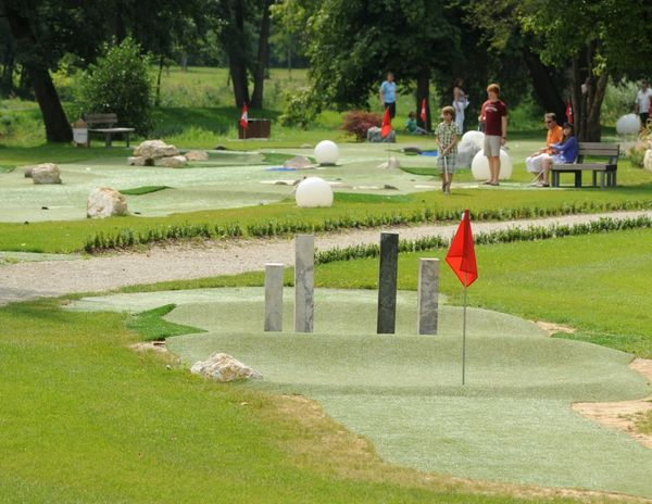 Die Eisvogel Spielgolf-Anlage in Bad Gögging