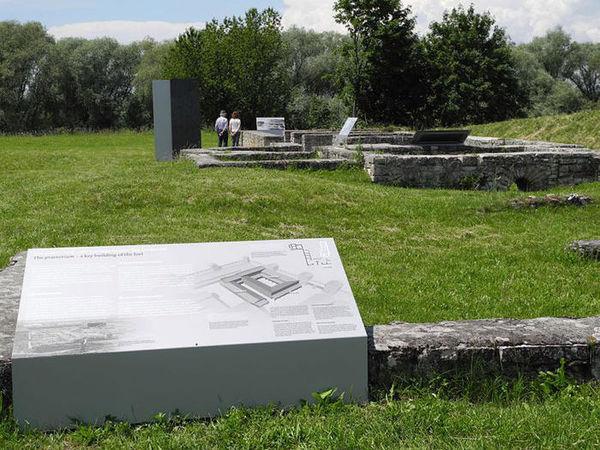 Das Römerkastell Abusina auf dem Limes-Radweg