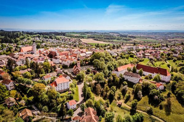 Bad Griesbach Altstadt von oben