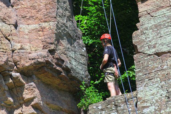 Klettern in den Falkensteinfelsen