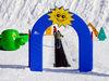 Kinderspaß auf dem Zauberteppich im Skigebiet Hoher Bogen