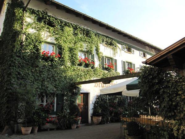 Blick auf die Brauereigaststätte Lindner-Bräu in Bad Kötzting