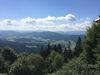 Herrlicher Ausblick von der Terrasse der Kötztinger Hütte am Kaitersberg