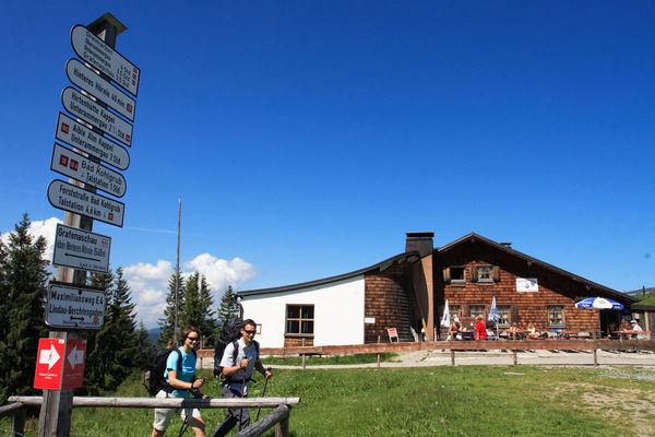 Hörnlehütte, die Berggaststätte auf dem Hörnle in Bad Kohlgrub
