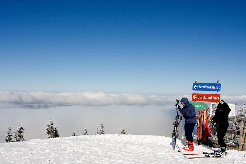 Skifahrer am Hörnle
