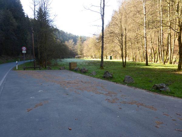 Wanderparkplatz in unmittelbarer Nähe zur Ilse.