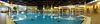 Im Sole-Thermalbad kann man sich in den Innen- und Außenbecken auf über 700 qm Wasserfläche in 33 Grad warmer, 3-prozentiger Original Bad Westernkotter Natursole Sole wohltuend treiben lassen.