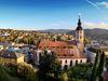 Blick vom Florentinerberg auf die Stiftskirche in der Altstadt