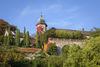 Blick auf das Neue Schloss und die Sonnenterrasse