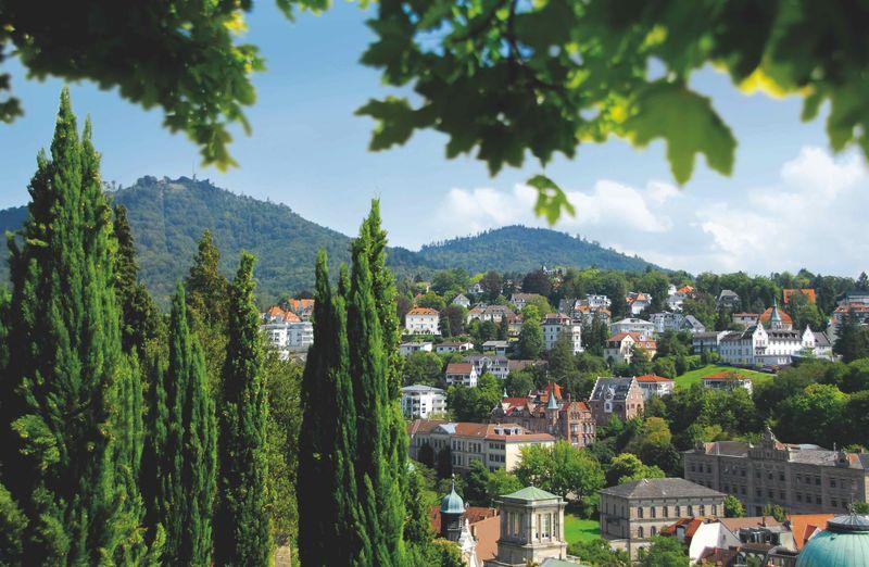Blick vom Florentinerberg auf das Bäderviertel