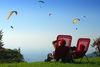 Gleitschirmfliegen auf dem Merkurberg