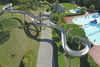 Die 80m lange Edelstahlrutsche