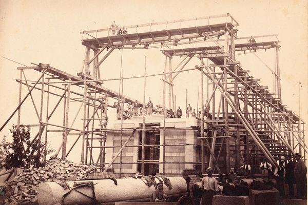 Bau der Stourdza-Kapelle