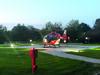 DRF Rettungshubschrauber auf dem Gelände