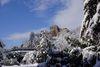 Winterzauber in Badenweiler mit Blick zur Burg Baden