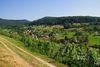 Rundweg um den  Lipberg mit Blick zum Ort Lipburg