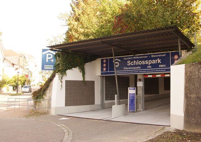 Einfahrt zur Parkgarage in Badenweiler