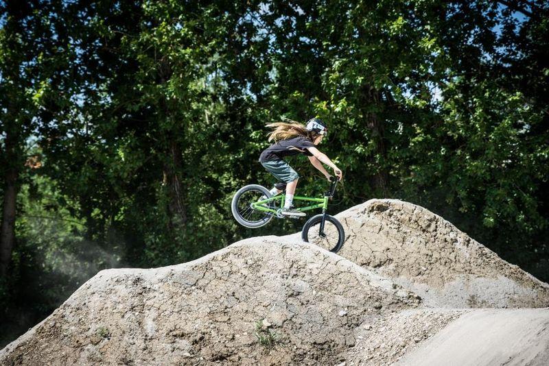 Mountainbikerin im Dirt Bike Park Balingen-Frommern, ©outdoorfever.de