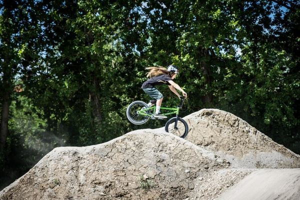 Mountainbikerin im Dirt Bike Park Balingen-Frommern, ©outdoorfever.de