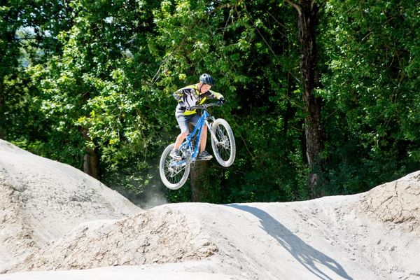 Mountainbiker im Dirt Bike Park Balingen-Frommern, ©outdoorfever.de