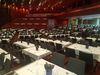 Innenansicht Stadthalle Balingen, Bankettvariante