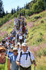 Viele Gläubige besuchen die Arber Bergkirchweih