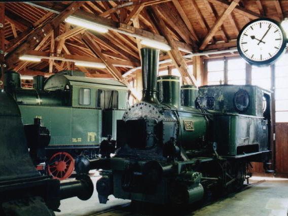 Dampflok im Lokschuppen im Localbahnmuseum Bayerisch Eisenstein