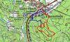 Wegverlauf des Urwaldsteigs bei Bayerisch Eisenstein