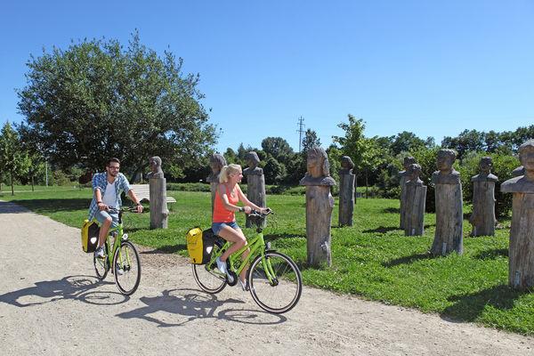 Radfahrer im SaarGarten