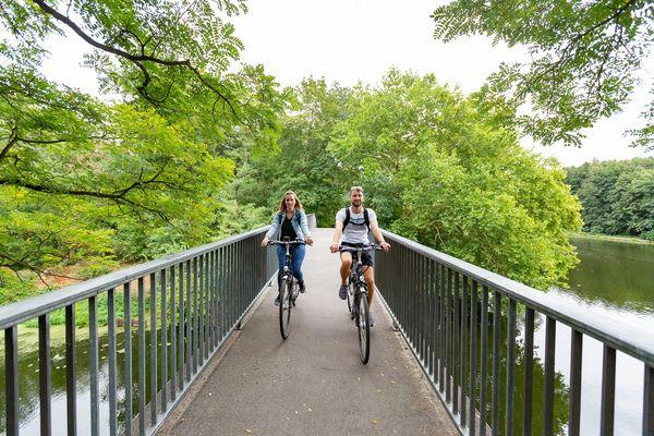 Radfahren entlang der Spree, Foto: Seenland Oder-Spree e.V./Florian Läufer