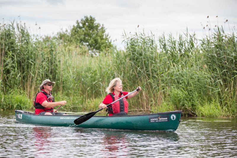 Mit dem Kanu auf der Spree