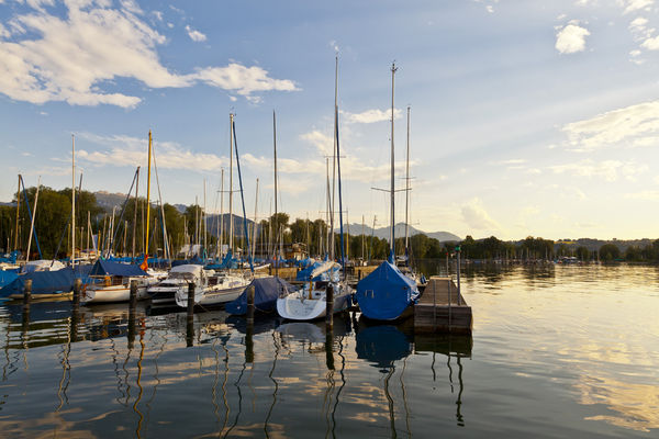 Segelboote am Chiemsee