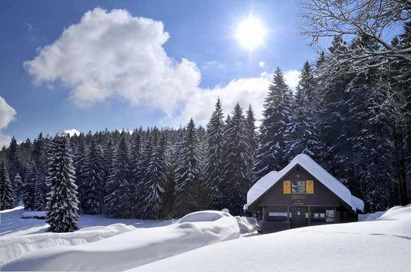 Wintersportort Bernau im Schwarzwald: Loipenhütte Rot-Kreuz