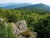 Blick vom Hirschenstein zum Rauhen Kulm im Bayerischen Wald