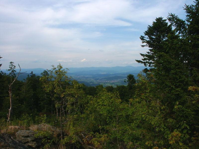 Blick vom Vogelsang zum Arber im Bayerischen Wald