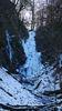 eingefrorener Wasserfall im März