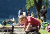Auch Kinder lieben das Grillieren und Baden in Betlis
