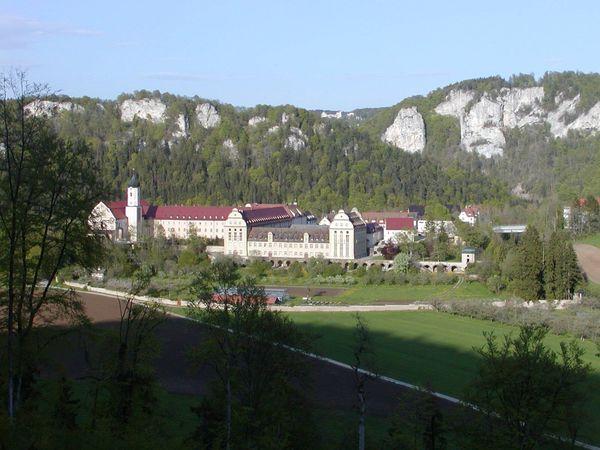 Blick auf das Kloster in Beuron
