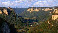 Das Donautal vom Eichfelsen aus gesehen