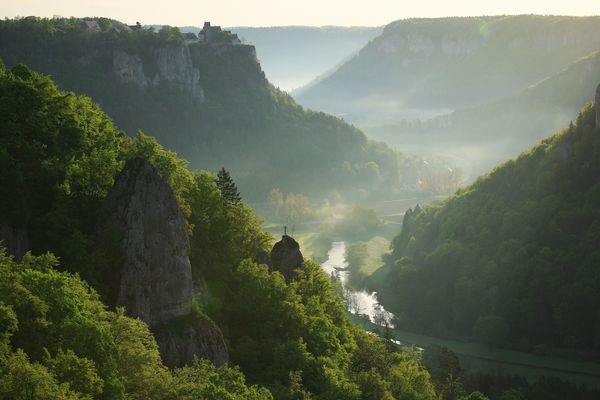 Blick vom Eichfelsen ins Obere Donautal
