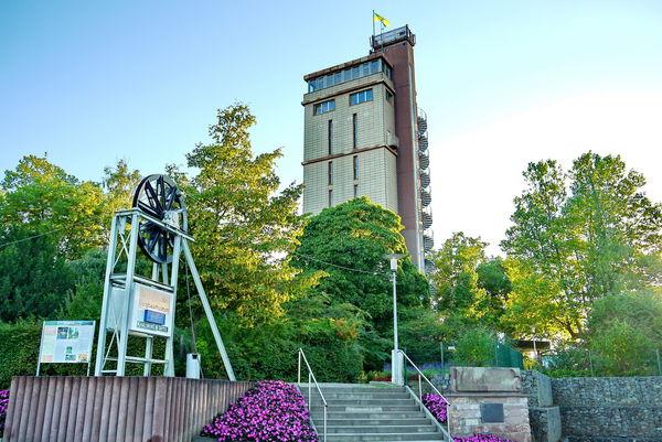 Hindenburgturm im Blumengarten Bexbach